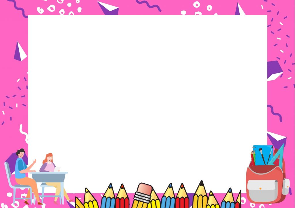 ดาวน์โหลดเกียรติบัตรนักเรียนสวย ๆ สีชมพู
