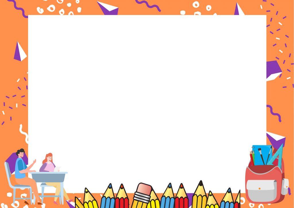 ดาวน์โหลดเกียรติบัตรนักเรียนสวย ๆ สีส้ม